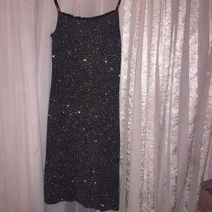 Beautiful spaghetti strap, black, sparkly dress